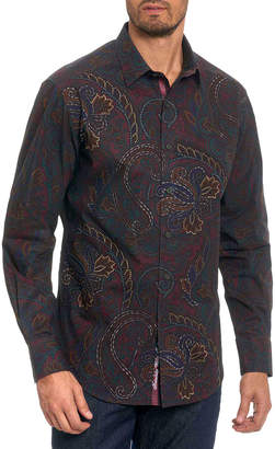 Robert Graham Men's Carlyle Paisley Cotton Sport Shirt