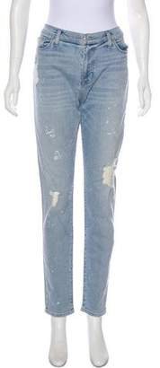 Hudson Mid-Rise Distressed Jeans w/tags