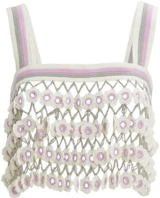My Beachy Side Madonna Crochet Crop Top