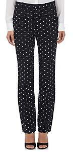 Givenchy Women's Micro Cross-Print Cady Trousers - Black
