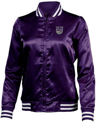 Antigua Women's Sacramento Kings Strut Satin Bomber Jacket