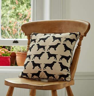 The Labrador Company Cotton Print Spaniel Cushion