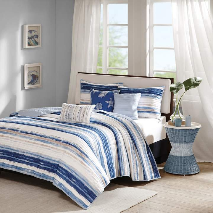 Madison Park Anchorage 6-piece Quilted Coverlet Set