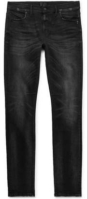 RtA Skinny-Fit Distressed Stretch-Denim Jeans - Black