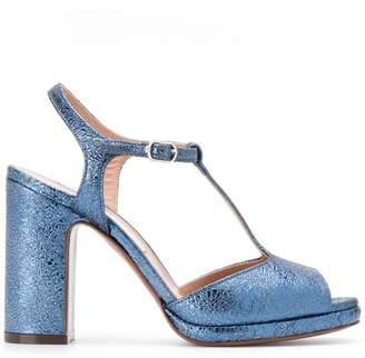 L'Autre Chose cracked effect sandals