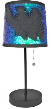 Mainstays Sequin Shade Table Lamp- Teal/ Black, Available In Other Color Options