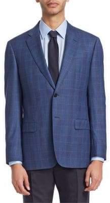 Emporio Armani Plaid Wool Jacket