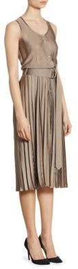 Nina RicciNina Ricci Pleated Silk Dress