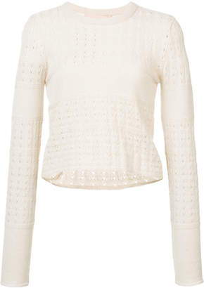 Brock Collection open knit sweater