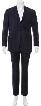 Etro Wool Striped Two-Piece Suit