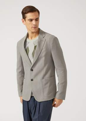 Emporio Armani Unlined Jacket In Stretch Fabric