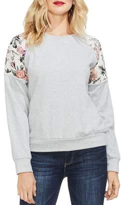 Vince Camuto Mixed-Media Sweatshirt