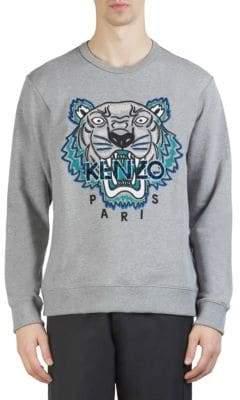 Kenzo Leopard Tiger Icon Cotton Sweatshirt