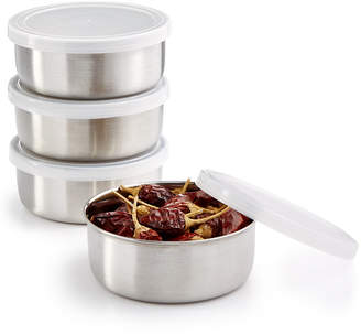 Martha Stewart Collection 4-Pc. Stainless Steel Prep Bowl & Lid Set, Created for Macy's