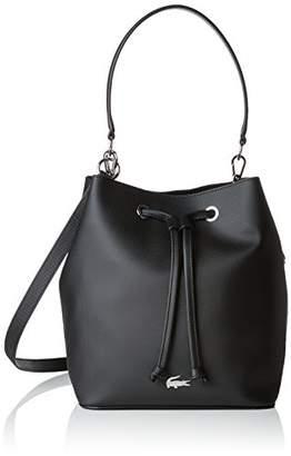 Lacoste Nf2535dc, Women's Shoulder Bag, Black, 17x25.5x22.5 cm (W x H L)