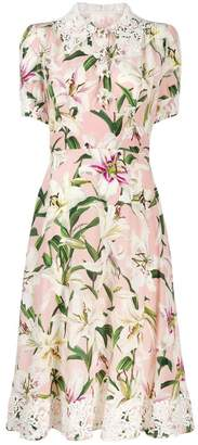 Dolce & Gabbana lace trimmed floral dress