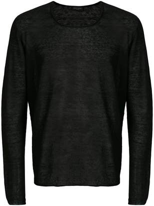 Roberto Collina semi-sheer sweatshirt