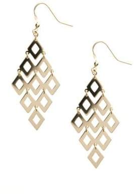 Lord & Taylor 14 Kt Gold Over Sterling Silver Chandelier Earrings