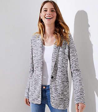 LOFT Tall Textured Knit Patch Pocket Blazer