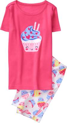 Gymboree Cupcake 2-Piece Shortie Pajamas