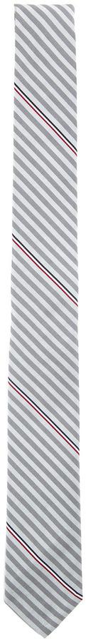 Thom Browne Stripe Mogador Tie in Grey