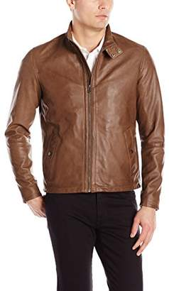 Cole Haan Men's Burnished Lamb Leather Jacket