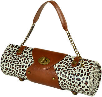 Picnic at Ascot Snow Leopard Wine Carrier/Cocktail Purse