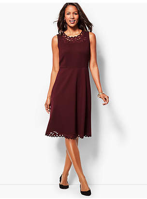 Talbots Embroidered Ponte Dress
