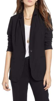 Treasure & Bond Shrunken Crepe Blazer