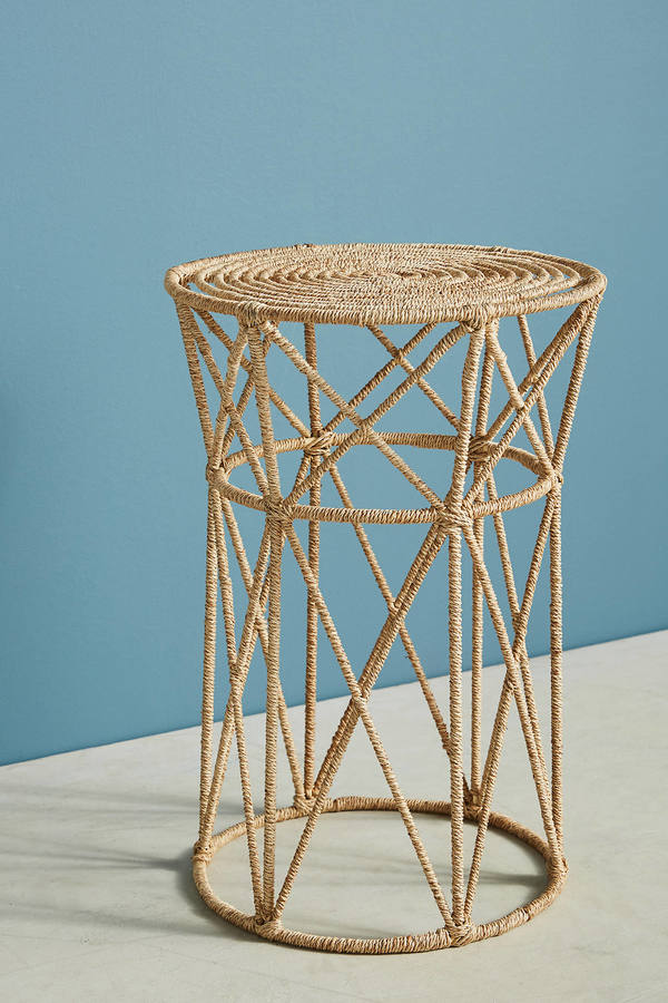 Anthropologie Anthropologie Angled Jute Side Table