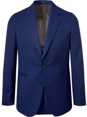 Paul Smith Storm-blue Soho Slim-fit Wool-hopsack Blazer - Blue