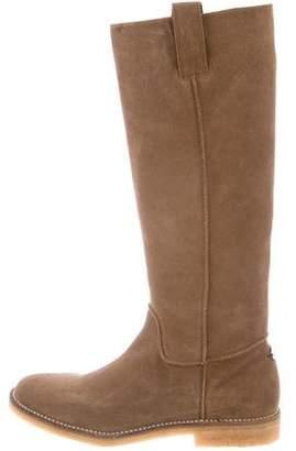 Santoni Suede Knee-High Boots