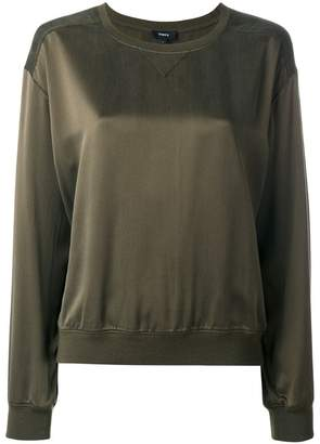 Theory round neck sweatshirt