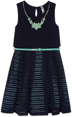 Knit Works Sleeveless Skater Dress - Big Kid Girls $58 thestylecure.com