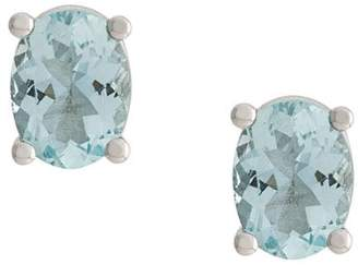 Delfina Delettrez 18kt white gold Dots Solitaire aquamarine stud earrings