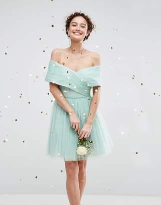 Asos Wedding Tulle Mini Dress