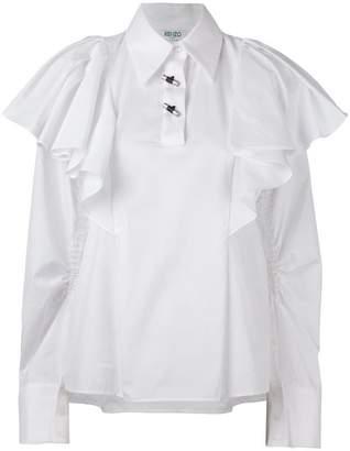 Kenzo oversized ruffled blouse