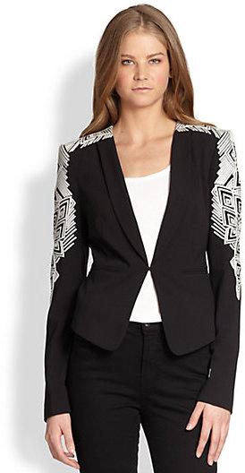 BCBGMAXAZRIA Abram Embroidered Jacket