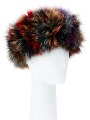 Adrienne Landau Fox Fur Head Band