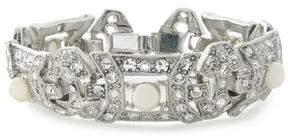 Ben-Amun Silver-Tone Faux Pearl And Crystal Bracelet