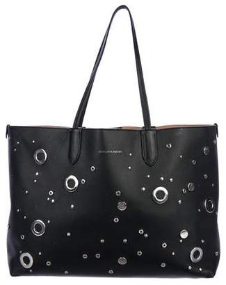 Alexander McQueen Leather Embellished Tote