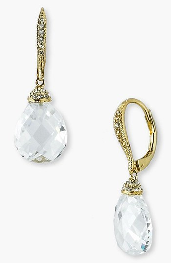 Nadri Faceted Crystal Drop Earrings