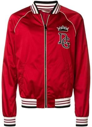 Dolce & Gabbana logo zipped bomber jacket