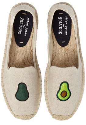 Soludos Women's Avocado Embroidered Platform Espadrille