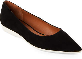 Marc Fisher Black Dexie Suede Pointed Toe Flats