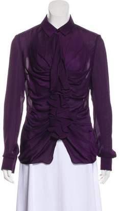 Givenchy Ruffled Long Sleeve Top