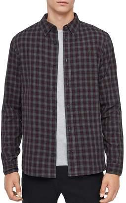 AllSaints Traxler Check Print Long-Sleeve Slim Fit Button-Down Shirt