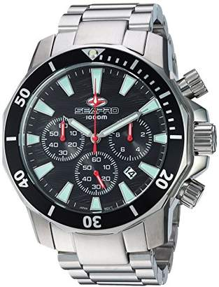Seapro Men's 'Scuba Dragon' Quartz Stainless Steel Casual Watch