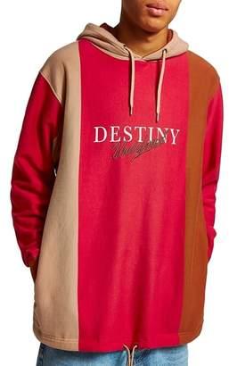 Topman Destiny Stripe Hoodie