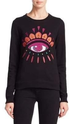 Kenzo Classic Embroidered Eye Cotton Sweatshirt